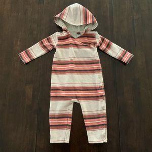 Tea Collection Super Cozy Hooded Wrap Front Romper